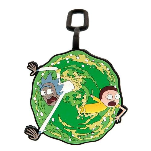 Rick and Morty Portal PVC Luggage Tag Label